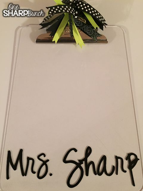 How to put your name on your clipboard in a fun font! (Silhouette Cameo Projects for the Classroom)