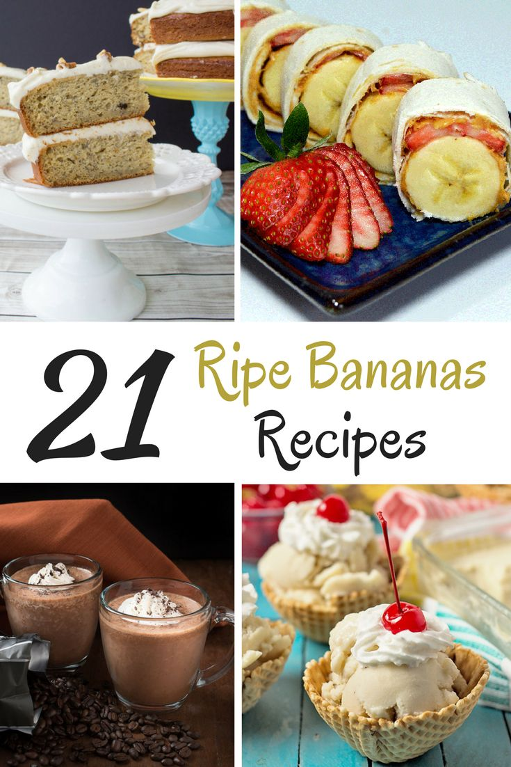 How many times have you thrown away ripe bananas? I hate wasting food, so here is a roundup of recipes with ripe bananas.