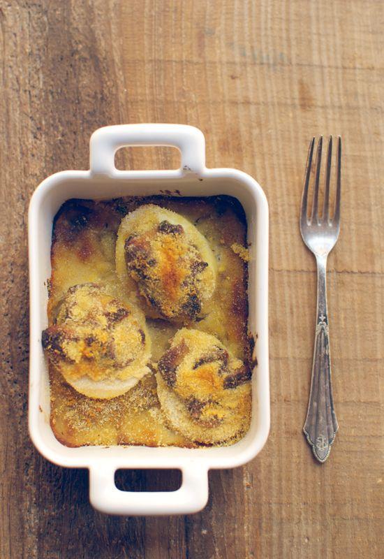 Receta 442: Huevos duros gratinados » 1080 Fotos de cocina