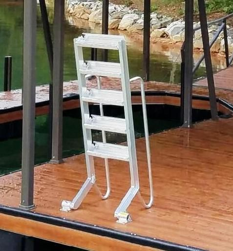 Wet Steps Dock Ladder Sloped Dock Ladder Aluminum Swim