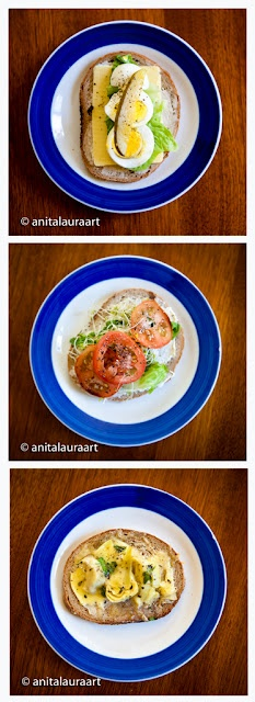 Veggie Sandwich Ideas:    Cheesy Artichoke Melt Sandwich, Egg Sandwich,  Cream Cheese and Sprout Sandwich