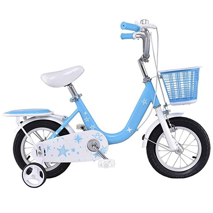 Goplus Kids Bike Boy S And Girl S Bicycle With Training Wheels And Basket For Kids 12 Review Kids Bike Bike With Training Wheels Kids Bike Accessories