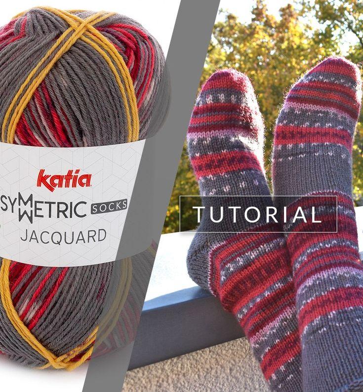 Como tricotar um par de meias completamente idênticas com apenas um ...
