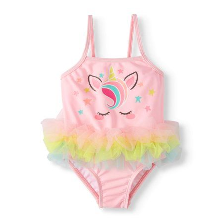9b8a55b24e Baby Girls' Unicorn Tutu One Piece Swimsuit (Baby Girls), Size: 12M, Pink