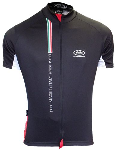 Maglia Ciclismo Manica Corta Mortirolo Pure Made in Italy Nera - Store For Cycling