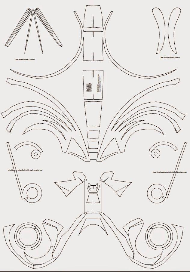 Stormtrooper Helmet Papercraft Template