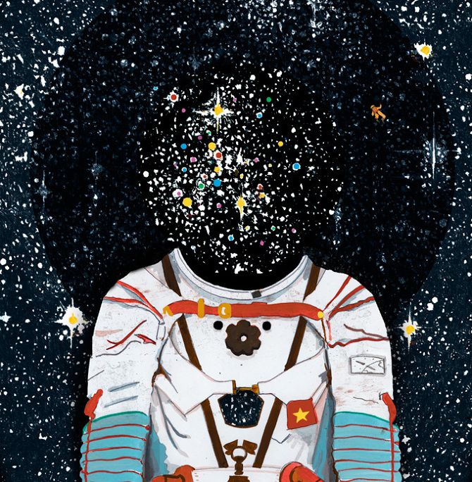 """Pleased to announce that """"Space Odyssey"""" has been """"Chosen"""" to appear in American Illustration's permanent archives. Thanks Judges!"""