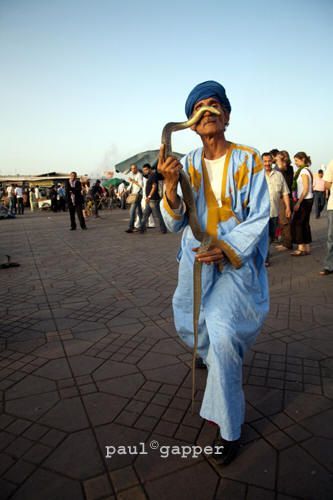 Snake charmer  Place Jema al-Fna Morocco