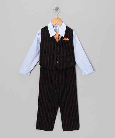 Take a look at this Navy & Blue Vest Set - Toddler & Boys by Happy Fella on #zulily today!