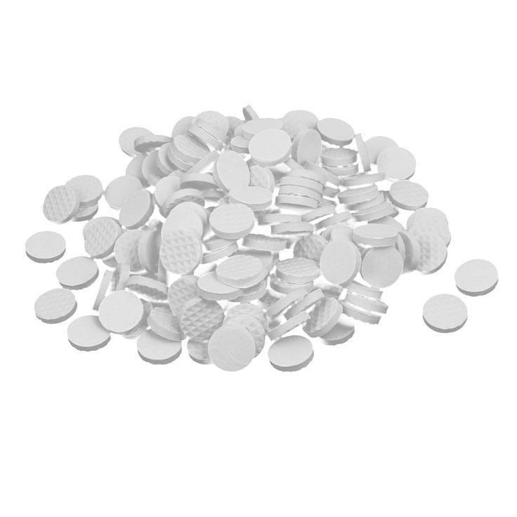18mm Dia Rubber Self Adhesive Anti-Skid Furniture Protection Pads White 200pcs