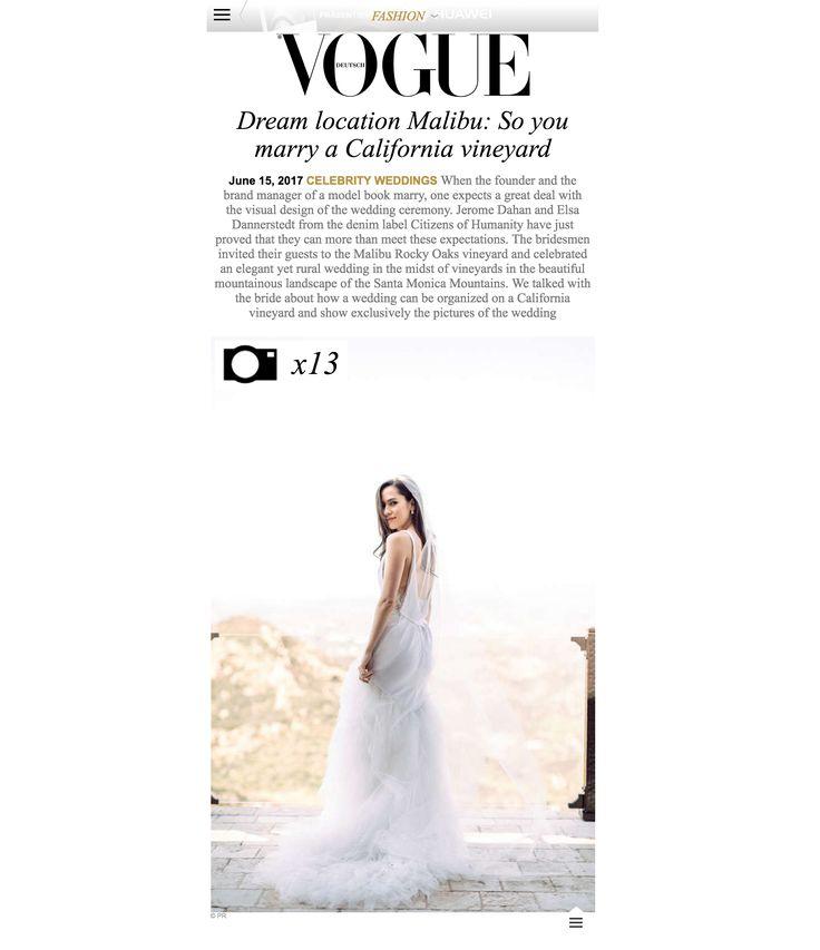 Janawilliamsxo Vogue Deutsch Fashion Wedding Dress Interview Santa