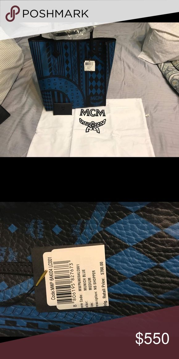 Mcm shopper Mcm large shopper bag comes with a small Mcm pouch. Brand new with tags Bags Totes