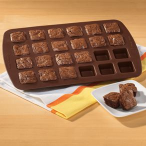 Brownie Bite Silicone Pan - Bakeware & Cookware - Kitchen - Walter Drake