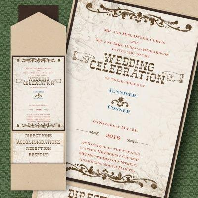 44 best pocket wedding invitations images on pinterest pocket rustic river layered pocket invitation ksw exclusive invitations stopboris Choice Image