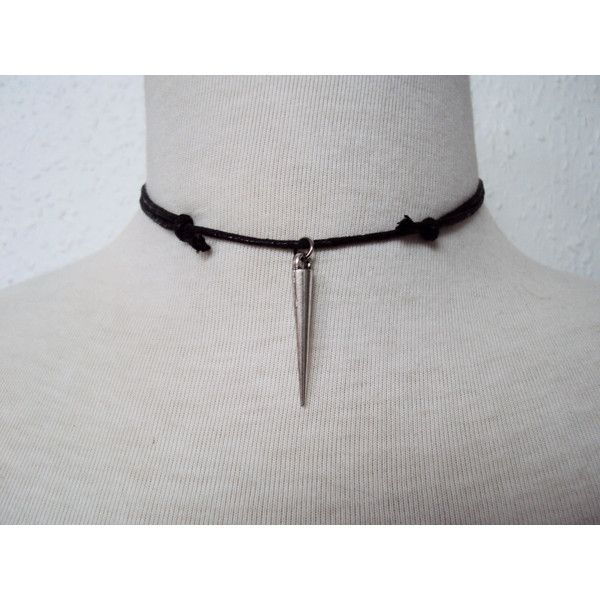 Large Spike Choker Necklace Unisex Jewelry Spike Necklace Necklace for…