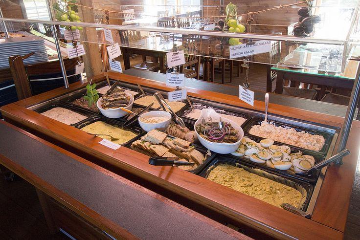 På Kroken, Buffet Tables #visitsouthcoastfinland #hanko #Finland #påkroken #food #restaurant #buffet #delicious