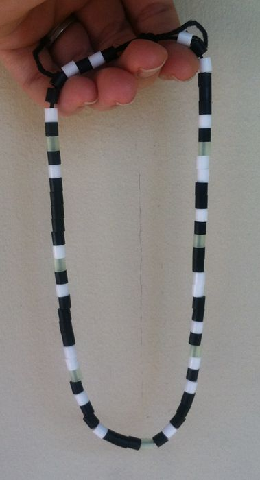 Binary name necklace with beads.  Fun craft and great explanation of binary code.  Cub scouts - Wolf Scouts: Great for Electives 1 and 21.  Girl Scouts too!