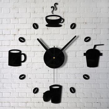 High Quality Fashion Creative Personality Fun Process Acrylic Digital Wall Clock