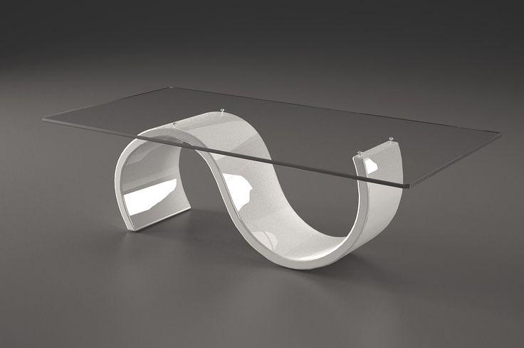 Articolo 416-20     Tavolino da salotto Crono - Finitura: laccato bianco lucido.Misure: cm 110 x 65  - Altezza: cm 38 - Peso: Kg. 42 - Vetro: rettangolare -  temperato - extrawhite - filo lucido - spessore 1 cm