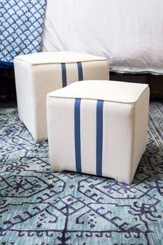 Blue Dorm Room Design on Thou Swell Blog featuring Mohawk Home's Barrow Blue area rug