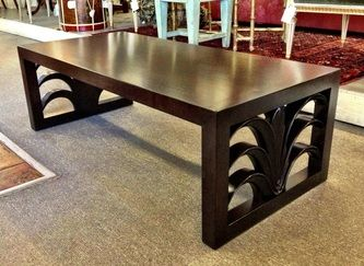 TH Robsjohn-gibbings designed coffee table for Widdicomb. Refinished 48 x 22 x 15.5h Dealer PSA $2250