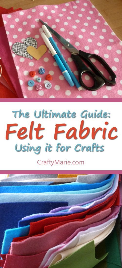What is craft felt fabric and all about how you can use felt in your crafts, tips on sewing with it, marking patterns on it, gluing it and much more. The ultimate guide on this material.