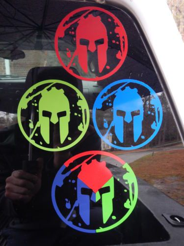"Spartan Race Vinyl Decal 5"" Sprint Super Beast Tri Fecta Sticker Full Set 
