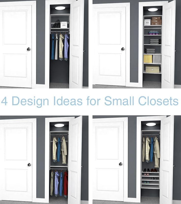 Even extra small closets can be extra organized with these for Extra closet storage