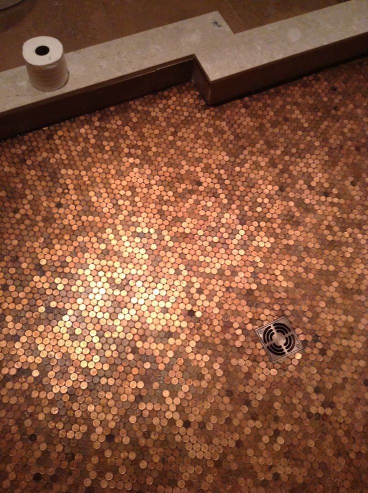 penny tiles bathroom floor shower floor coo this and 19949