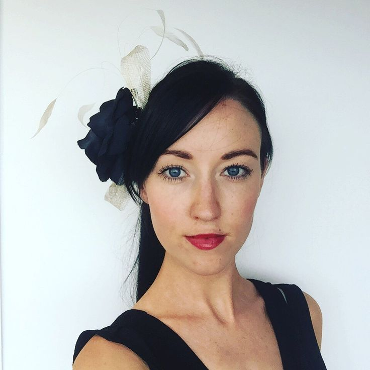 A personal favourite from my Etsy shop https://www.etsy.com/au/listing/252099941/black-and-cream-fascinator-with-black