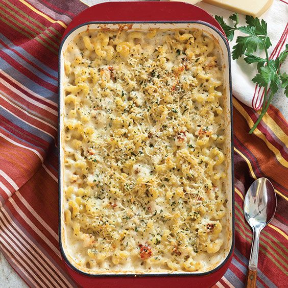 This baked seafood macaroni and cheese is a taste of the coast.