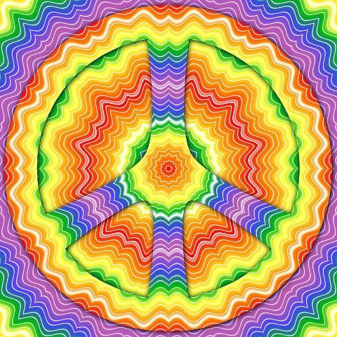 groovy: Hippies Peace, Color, Peace Signs, Chance, Peace Man, Hippie Art, Rainbow, Photo, Mandala