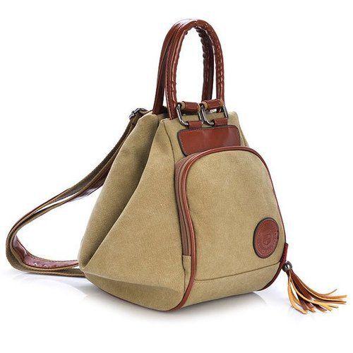 Multi Functional Shoulder Bags Casual Women Men Canvas Tassel Backpack  This…