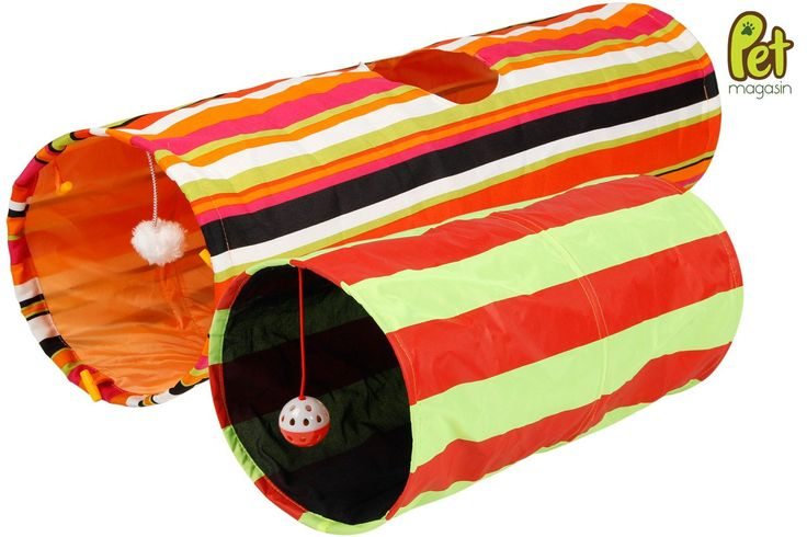 Specification: - A great interactive toy! Cats love to run into tunnels, and the crinkly fabric of these gives them added interest. There's a peephole in the longer tunnel, and dangling ball toys in b