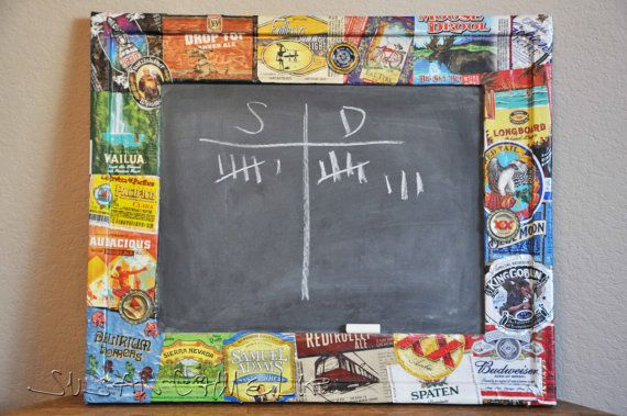 Beer Label Chalk Board