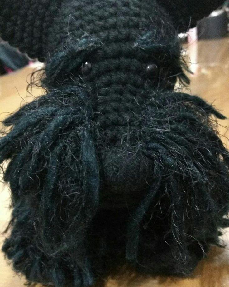 Schnauzer perro amigurumi