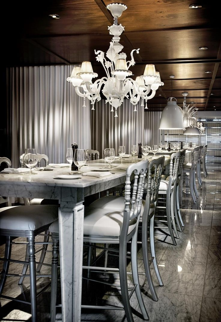 Restaurant Interior Design monochromatic