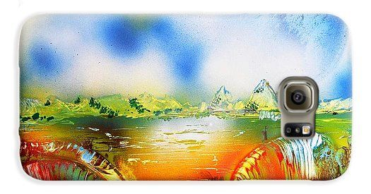 Rainbowland Galaxy S6 Case Printed with Fine Art spray painting image Rainbowland by Nandor Molnar (When you visit the Shop, change the orientation, background color and image size as you wish)