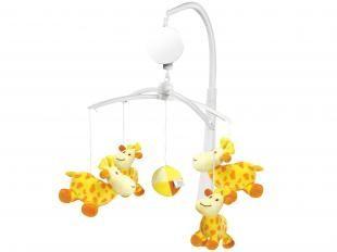 Móbile Musical Girafa com 5 Pelúcias - Dican