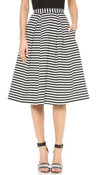 Nicholas Striped Ball Gown Skirt $300
