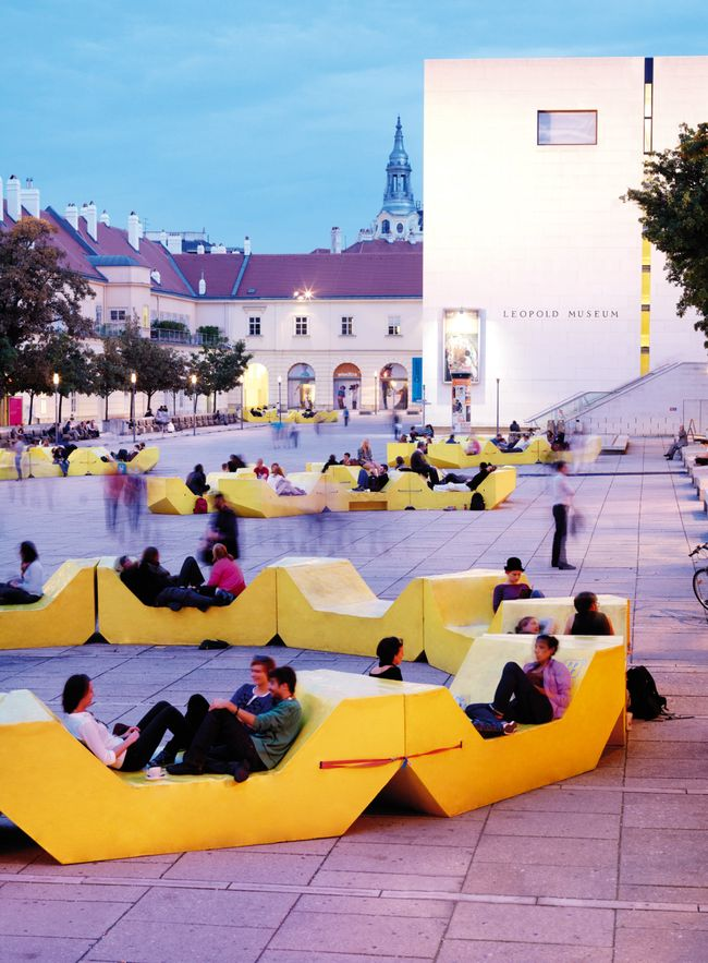 Yard furniture MuseumsQuartier Vienna - Google Search