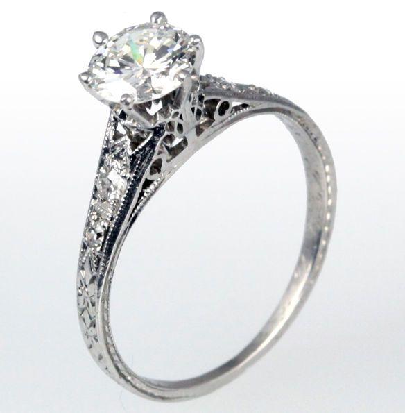 vintage wedding rings   Celebrity Vintage Platinum Jewelry Trends megan fox wedding ring ...