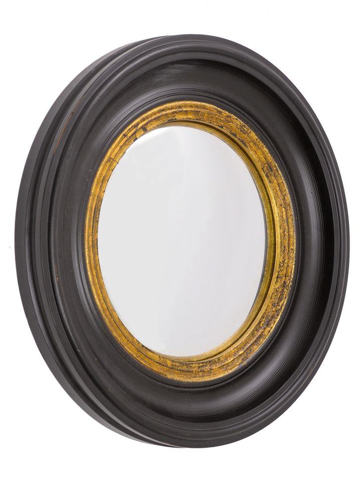 Black & Gold Porthole Mirror