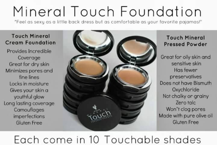 Touch Mineral Cream Foundation vs Touch Mineral Pressed Powder. Order here @www.youniqueproducts.com/LusciousLashesbyLora