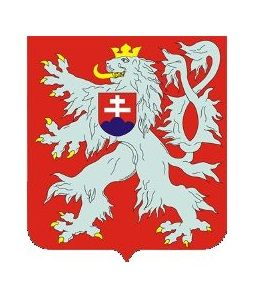 Czechoslovakia : the coat of arms 1945-1961 Czech lion and Slovak coat of arms in en surtout postition. Czechia the heart of Europe | History: