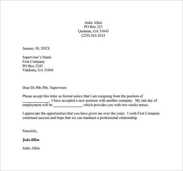 25 Resignation Letter Examples Pdf Doc Resignation