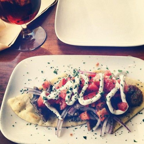 A New Way To Share.....  Gyros deconstructed by Chef Nikos Maheras  #GreekFood #Greek #SanFrancisco