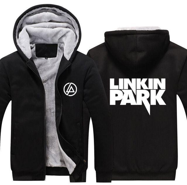 2017 USA SIZE Men hoodies Linkin Park Adult Thicken Hoodie Zipper  Sweatshirts Coat Jacket d8e76e362d7
