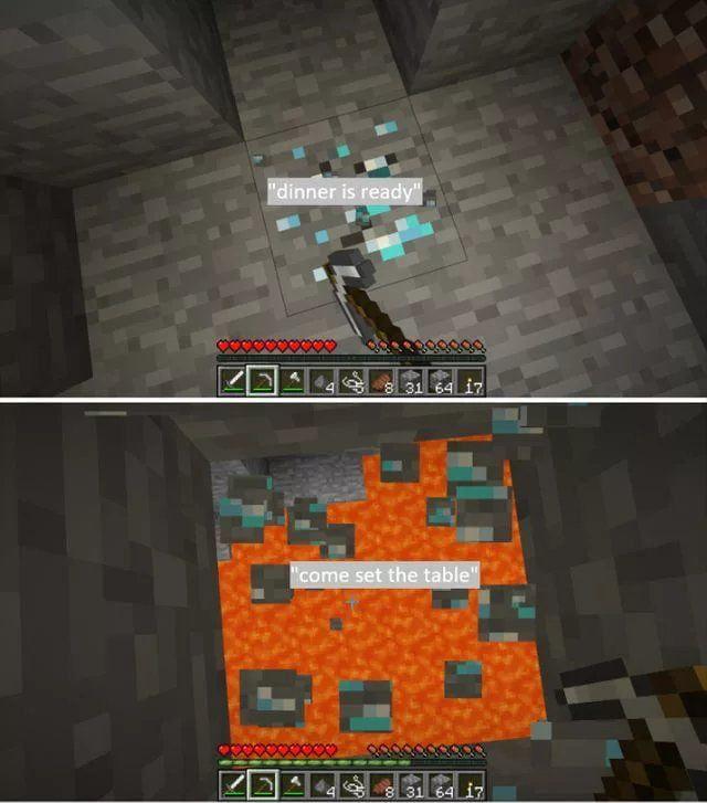 Never Mine Down Minecraft Memes Minecraft Funny Minecraft