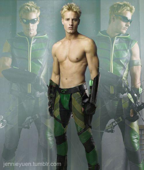 justin hartley...Green Arrow...Oliver Queen...who cares!